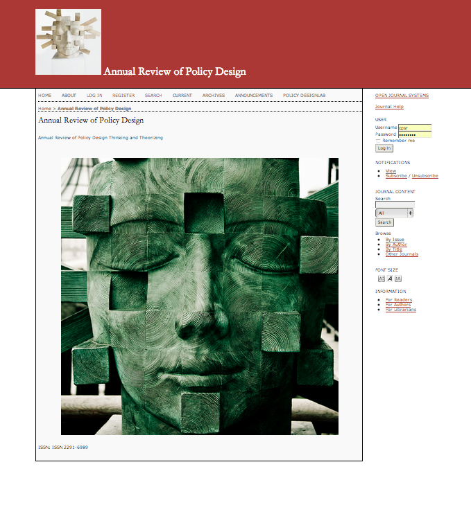 Annual Review of Policy Design 2013